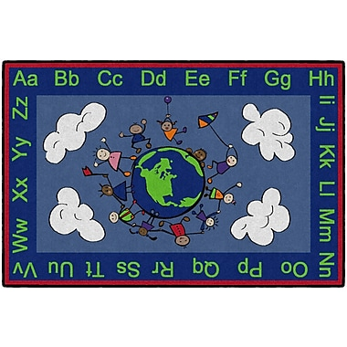Flagship Carpets Happy World Rug, 4' x 6' (CE189-22W)