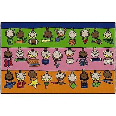 Flagship Carpets Fun At School Rug, 5' x 8' (CE190-28W)