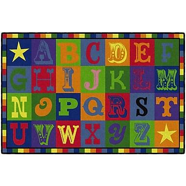 Flagship Carpets Early Blocks Rug, 4' x 6' (CE191-22W)