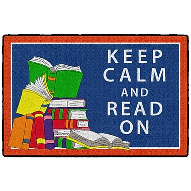 Flagship Carpets Keep Calm and Read On Rug, 2' x 3' (CE349-08W)