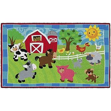 Flagship Carpets Cutie Barnyard Rug, 3' x 5' (CE417-12W)