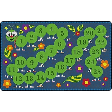 Flagship Carpets Counting Caterpillar Rug, 7.6' x 12' (FE106-44A)