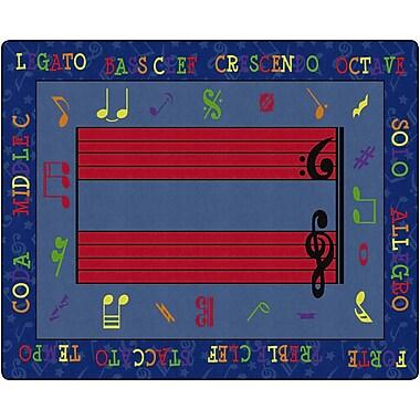 Flagship Carpets Fun With Music Rug, 10.9' x 13.2' (FE121-58A)