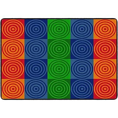 Flagship Carpets Bullseye Block Rug, 6' x 8.4' (FE156-32A)