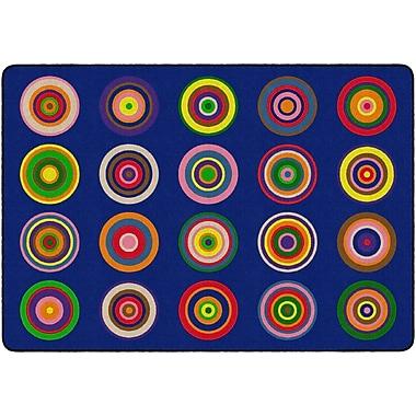 Flagship Carpets Colour Rings Rug, Indigo, 6' x 8.4' (FE159-32A)