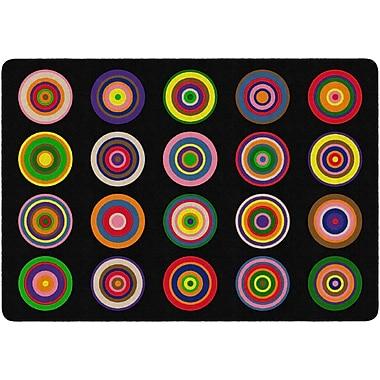 Flagship Carpets Colour Rings Rug, Black, 6' x 8.4' (FE160-32A)