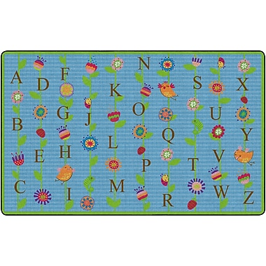 Flagship Carpets Blooming Alphabet Rug, Blue, 6' x 8.4' (FE273-32A)