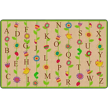Flagship Carpets Blooming Alphabet Rug, Tan, 6' x 8.4' (FE274-32A)