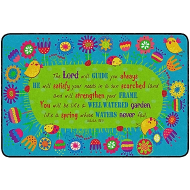 Flagship Carpets God's Garden Isaiah 58:11 Rug, 4' x 6' (FE284-22A)