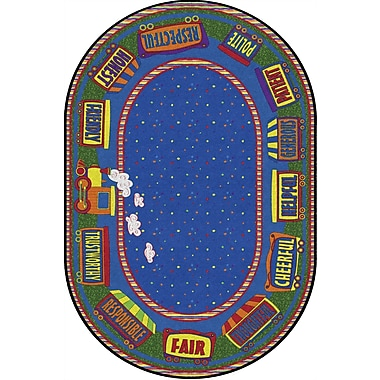Flagship Carpets The Good Friend Train Rug, 4' x 6' (FE285-23A)