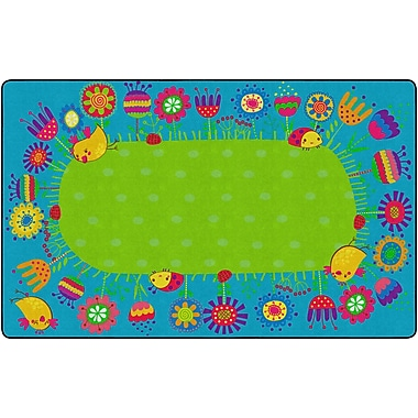 Flagship Carpets Good Morning Garden Rug, 7.6' x 12' (FE290-44A)