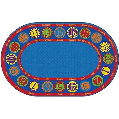 Flagship Carpets Number Circles Bilingual Rug, 7.6' x 12' (FE296-45A)