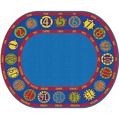 Flagship Carpets Number Circles Bilingual Rug, 10.9' x 13.2' (FE296-59A)