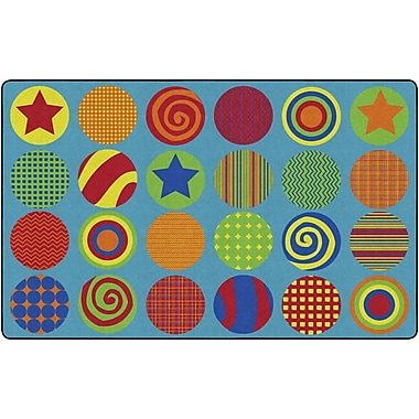 Flagship Carpets Patterned Circles Rug, 7.6' x 12' (FE297-44A)