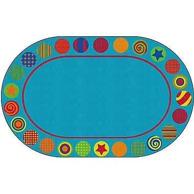 Flagship Carpets Patterned Circles Rug, 7.6' x 12' (FE298-45A)