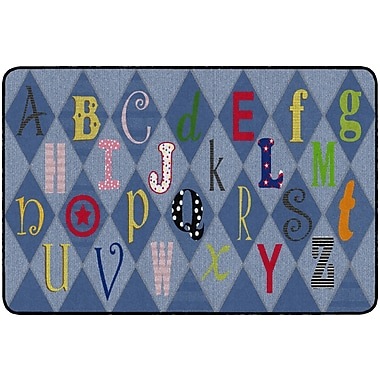 Flagship Carpets Playful Letters Rug, 4' x 6' (FE299-22A)