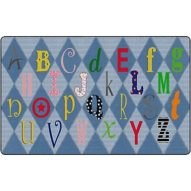 Flagship Carpets Playful Letters Rug, 7.6' x 12' (FE299-44A)