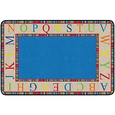 Flagship Carpets The Alphabet Rug, 4' x 6' (FE309-22A)