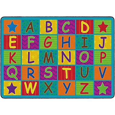 Flagship Carpets Cheerful Alphabet Rug, 6' x 8.4' (FE334-32A)