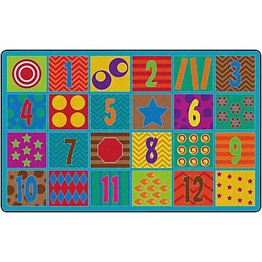 Flagship Carpets Counting Fun Rug, 7.6' x 12' (FE336-44A)