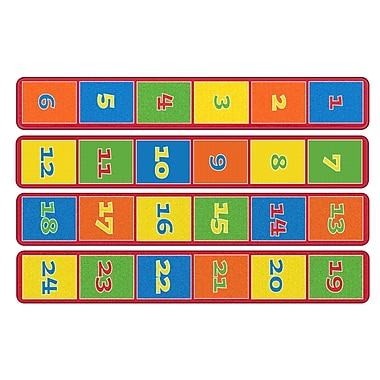 Flagship Carpets Sitting Grid Primary Runner Seats 24 Set Of 4 Strips Rug, 0.13' x 8' (FE344-01A)