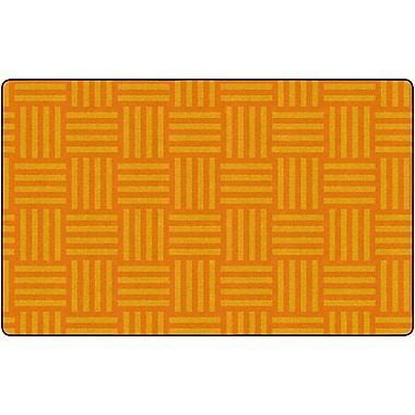 Flagship Carpets Hashtag Tone On Tone Rug, Orange, 7.6' x 12' (FE386-44A)