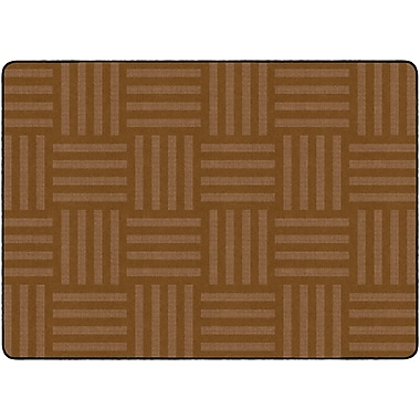 Flagship Carpets Hashtag Tone On Tone Rug, Chocolate, 6' x 8.4' (FE387-32A)