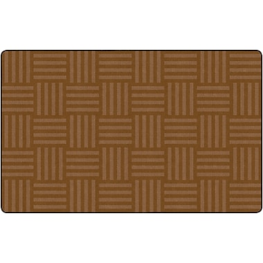 Flagship Carpets Hashtag Tone On Tone Rug, Chocolate, 7.6' x 12' (FE387-44A)