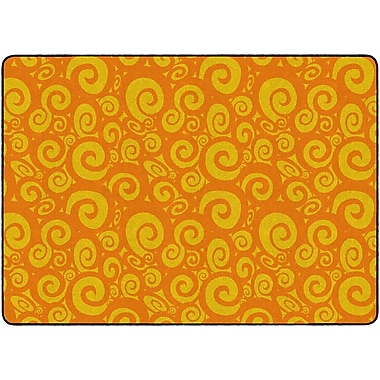 Flagship Carpets Swirl Tone On Tone Rug, Orange, 6' x 8.4' (FE391-32A)