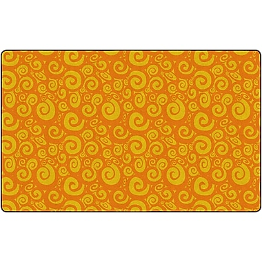Flagship Carpets Swirl Tone On Tone Rug, Orange, 7.6' x 12' (FE391-44A)