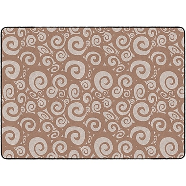 Flagship Carpets Swirl Tone On Tone Rug, Almond, 6' x 8.4' (FE394-32A)