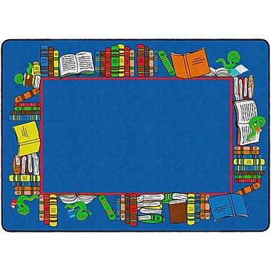 Flagship Carpets Book Worm Border Rug, 6' x 8.4' (FE406-32A)