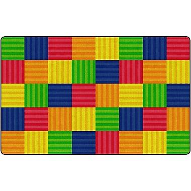 Flagship Carpets Hash Tag Multi Rug, 7.6' x 12' (FE411-44A)