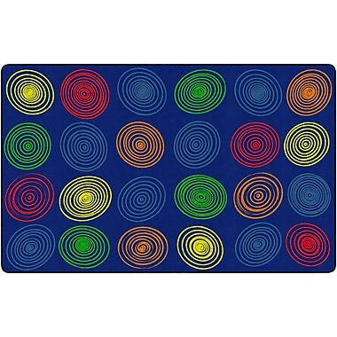 Flagship Carpets Circles Primary Rug, 7.6' x 12' (FE412-44A)