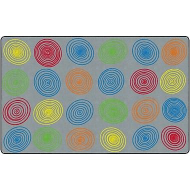 Flagship Carpets Circles Rug, Grey, 7.6' x 12' (FE413-44A)