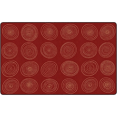 Flagship Carpets Circles Brick Rug, 7.6' x 12' (FE414-44A)