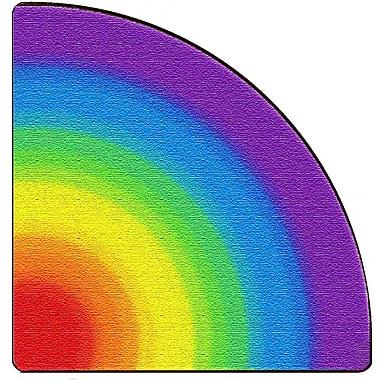 Flagship Carpets Rainbow Quarter Circle Rug, 6' x 6' (FE416-26A)