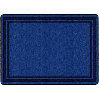 Flagship Carpets Double Dark Blue Border Rug, 6' x 8.4' (FE423-32A)