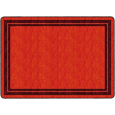 Flagship Carpets Double Border Rug, Red, 6' x 8.4' (FE424-32A)