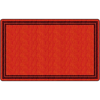 Flagship Carpets Double Border Rug, Red, 7.6' x 12' (FE424-44A)