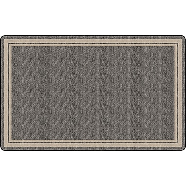 Flagship Carpets Double Border Rug, Grey, 7.6' x 12' (FE425-44A)