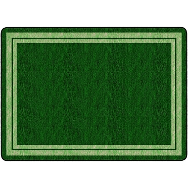 Flagship Carpets Double Border Clover Rug, 6' x 8.4' (FE426-32A)