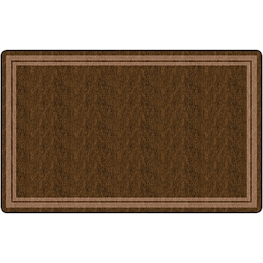 Flagship Carpets Double Border Rug, Chocolate, 7.6' x 12' (FE427-44A)