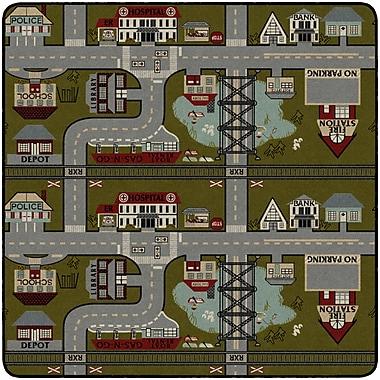 Flagship Carpets Places To Go Rug, 6' x 6' (FM178-26A)