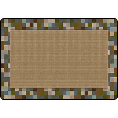 Flagship Carpets Border Blocks Rug, Teal, 6' x 8.4' (FM180-34A)