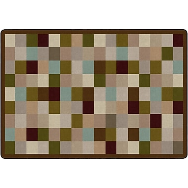 Flagship Carpets Multi Block Rug, 4' x 6' (FM182-22A)