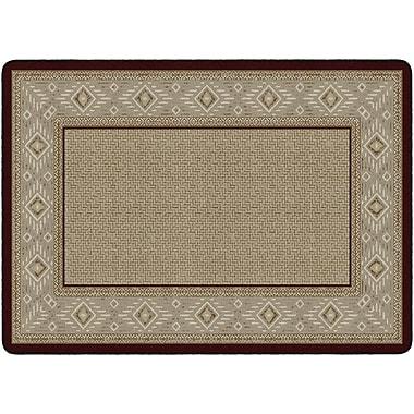 Flagship Carpets Ventana Weave Rug, Garnet, 6' x 9' (FM187-34A)