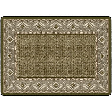 Flagship Carpets Ventana Weave Rug, Green, 6' x 9' (FM188-34A)