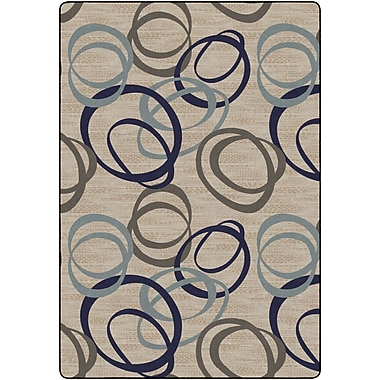 Flagship Carpets Duo Natural Rug, Blue, 8.4' x 12' (FM200-50A)
