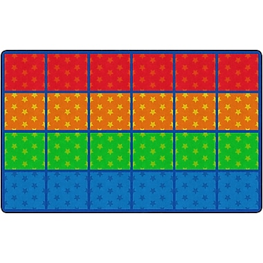 Flagship Carpets Cushy Stars Seating Rows Rug, 7.6' x 12' (PE423-44)